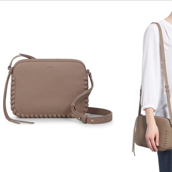 f093390cd0c ALLSAINTS Kepi Mini Leather Crossbody Bag